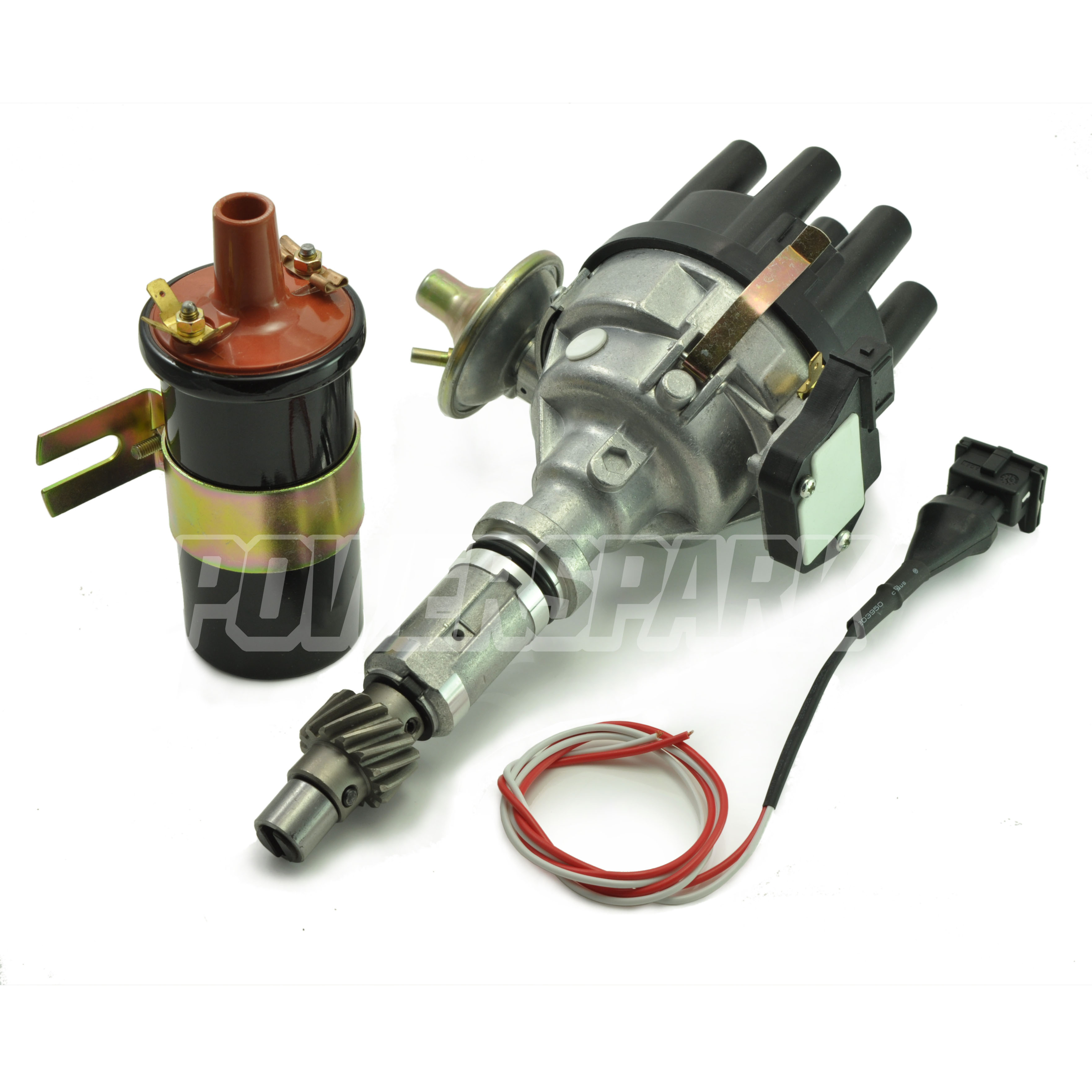 Land Rover Discovery 3 5 3 9 V8 Distributor Ignition Coil  U0026 Converter Lead